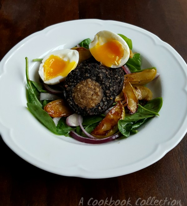 Warm Black Pudding and Apple Salad -A Cookbook Collection 1