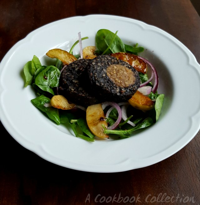 Warm Black Pudding and Apple Salad -A Cookbook Collection