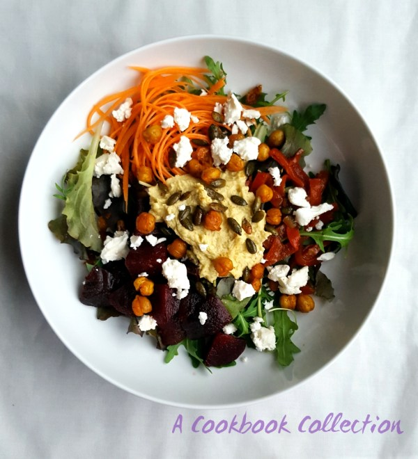 Beetroot Feta and Chickpea Salad- A Cookbook Collection