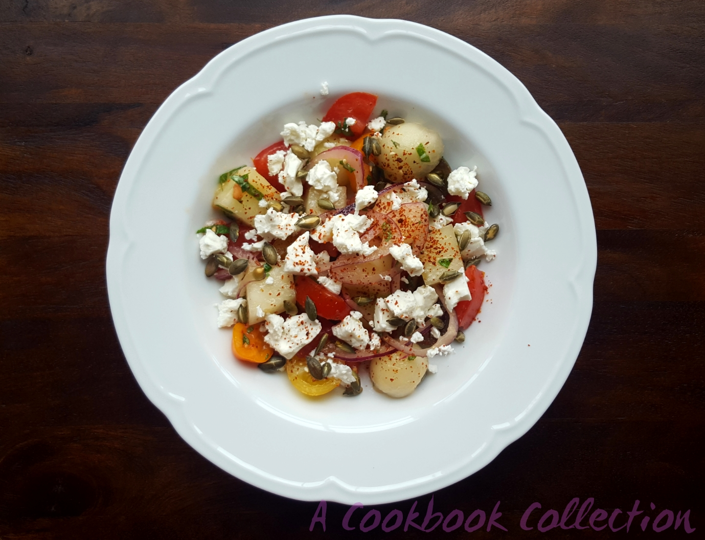 Tomato Melon and Feta Salad - A Cookbook Collection
