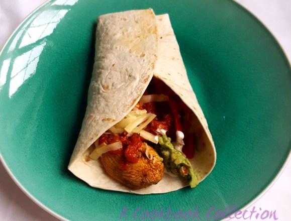 Chicken Fajita Wrap - A Cookbook Collection
