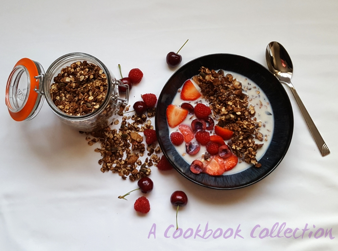 Crunchy Chocolate Granola- A Cookbook Collection