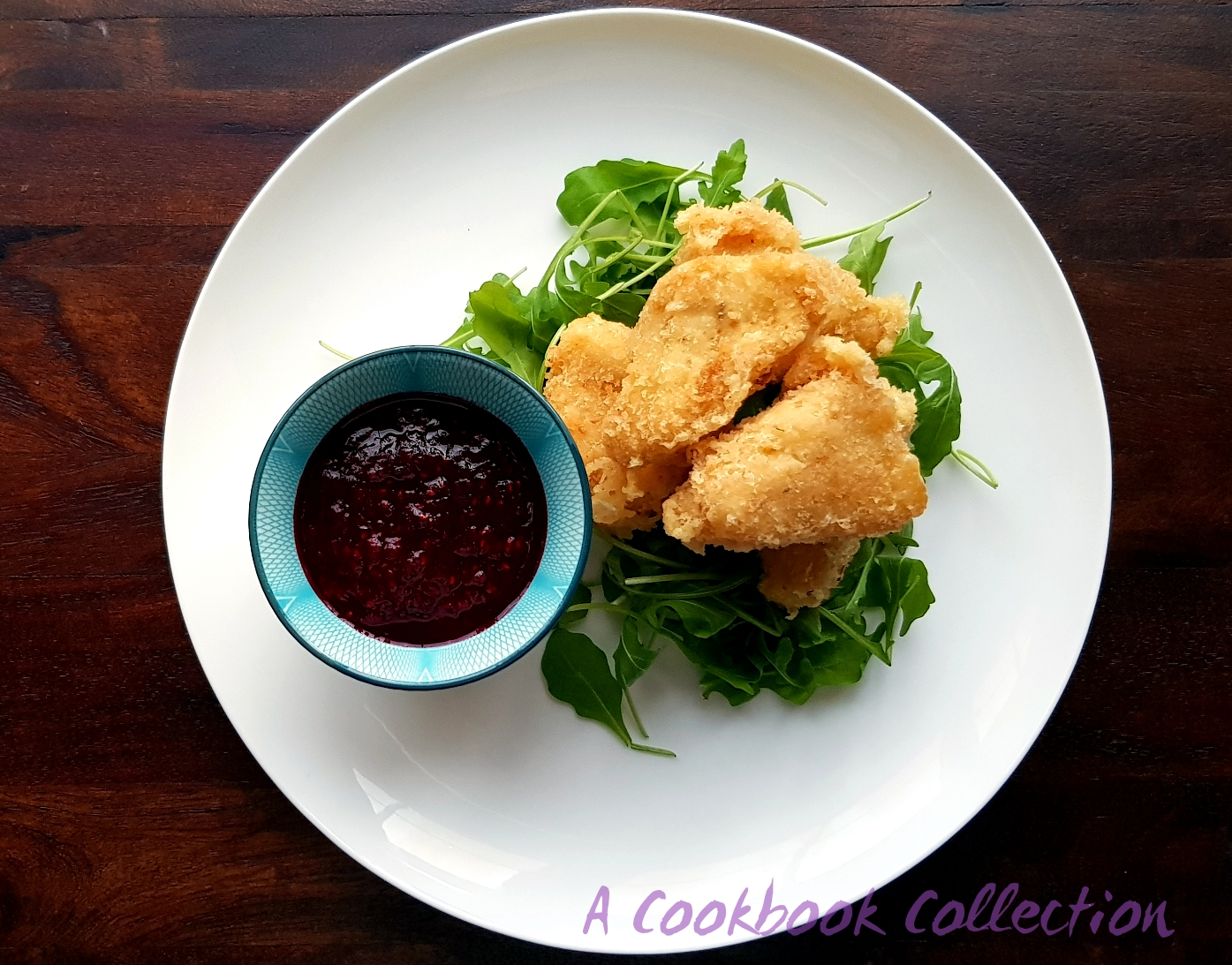 Deep Fried Brie with Raspberry Sauce - A Cookbook Collection