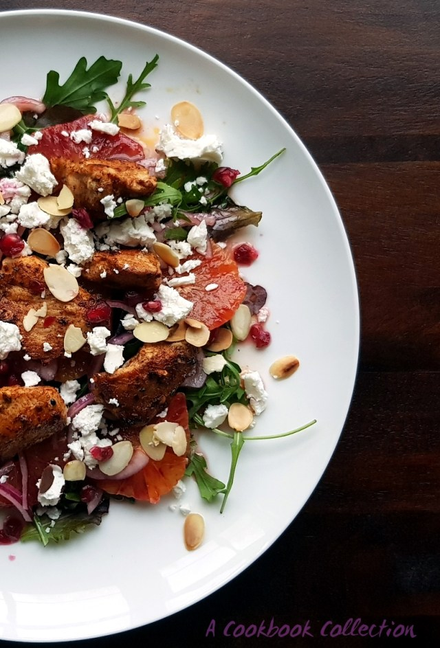 Ras el Hanout Chicken Blood Orange and Feta Salad- A Cookbook Collection