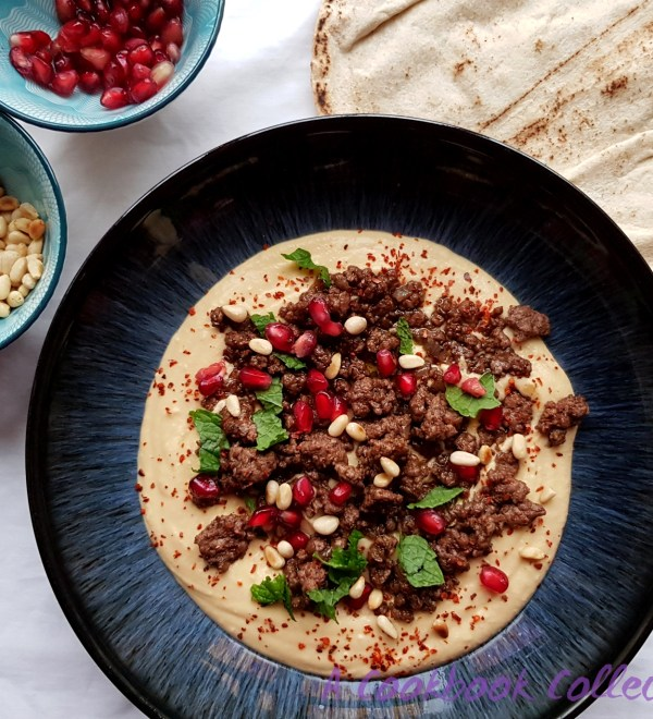 Hummus with Spiced Lamb -A Cookbook Collection