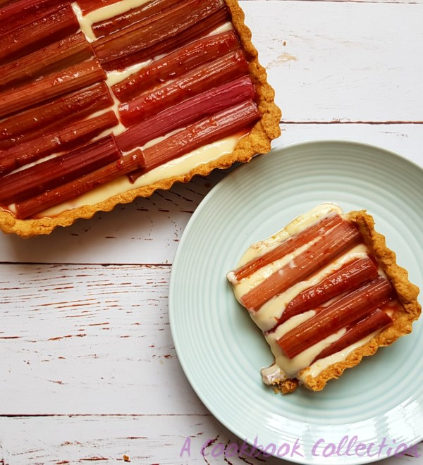 Rhubarb and Custard Tart - A Cookbook Collection