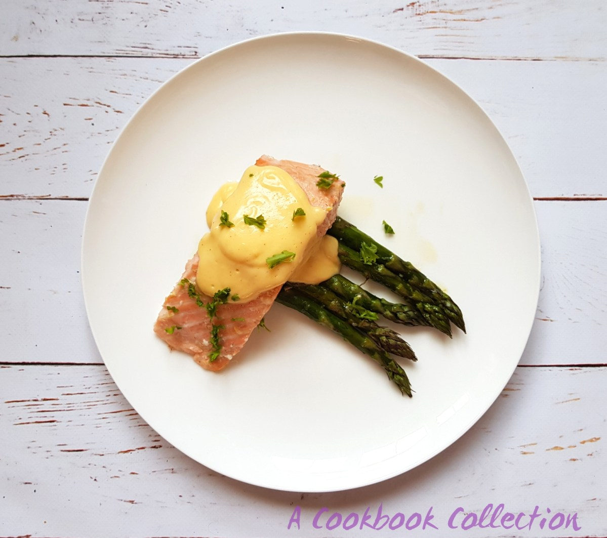 Roast Salmon with Asparagus and Hollandaise Sauce