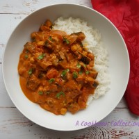 Aubergine Chickpea and Tomato Curry