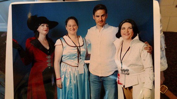 We got our picture taken with Hook--minus his eyeliner and the leather coat.