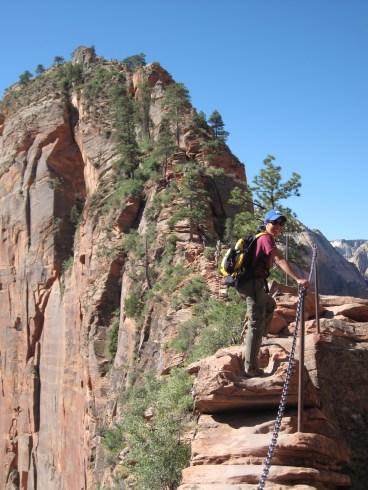 The terrifying trek to the top!