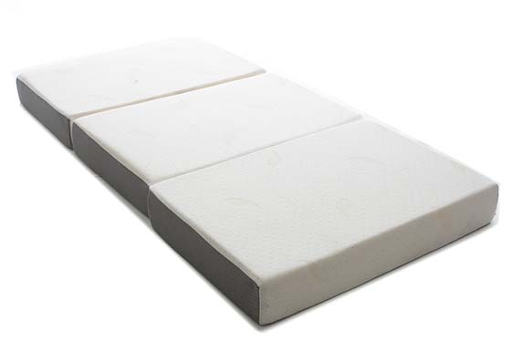 9. Milliard 6-Inch Memory Foam Tri-fold Mattress with Ultra Soft Removable Cover with Non-Slip Bottom