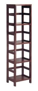 5. The Winsome Wood 4-Shelf Narrow Shelving Bookcase