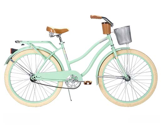 5. Huffy Women's Deluxe Cruiser Bike, Mint Green, 26-Inch/Medium