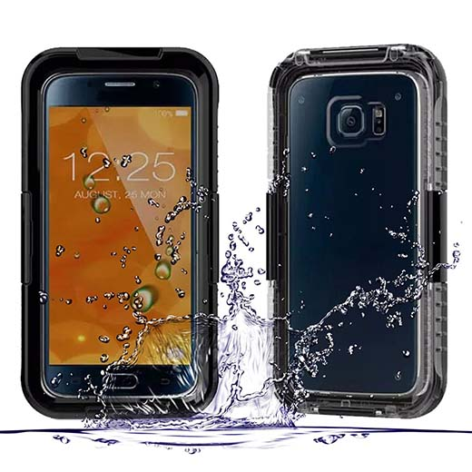 9. Galaxy S6 Edge case ,IP68 Waterproof s6 cover case -Durable Shockproof case for Samsung Galaxy S6 Edge