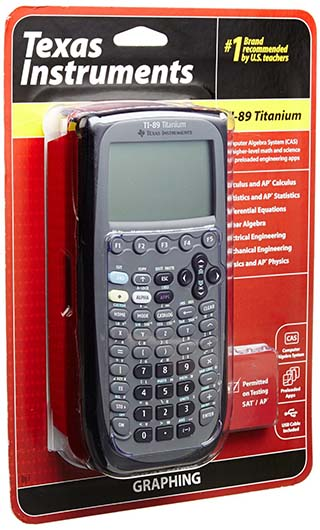 3. The next calculator on our list is the TI-89 Titanium