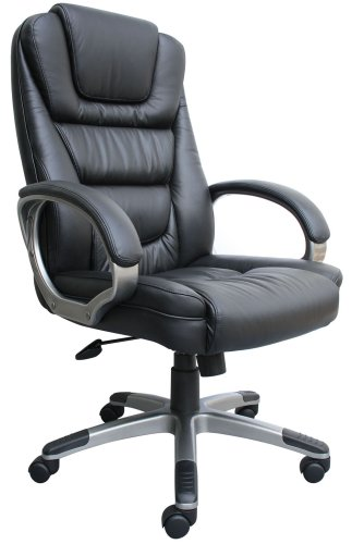 7. Boss Black LeatherPlus Executive Chair