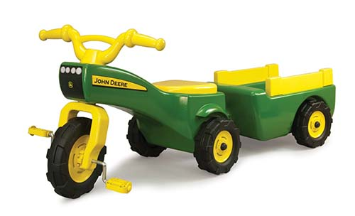 8. John Deere Pedal Tractor And Wagon