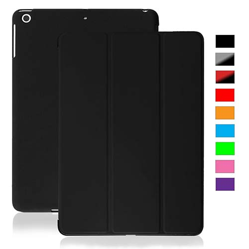 3. KHOMO iPad Mini / Mini 2 Retina / Mini 3 Case - DUAL Black Super Slim Cover with Rubberized back and Smart Feature (Built-in magnet for sleep / wake feature) For Apple iPad Mini Tablet