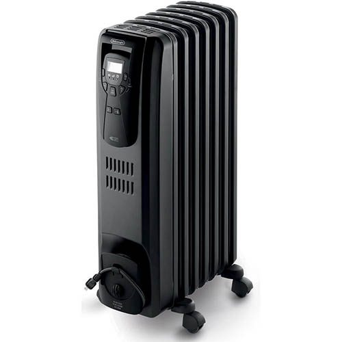 3. DeLonghi EW7507EB Oil Filled Radiator Heater Black 1500W