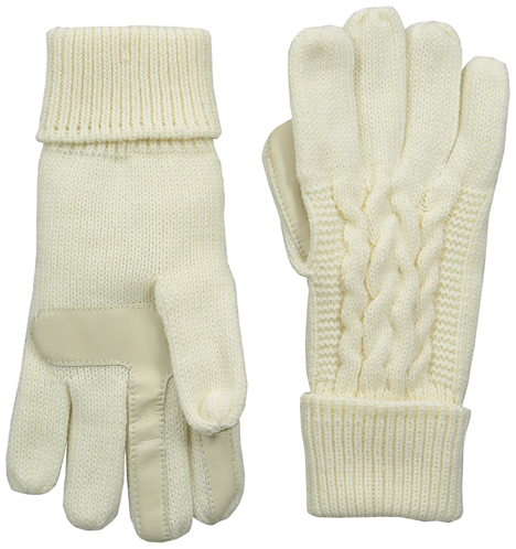 8. Triple Cable Knit smarTouch Gloves