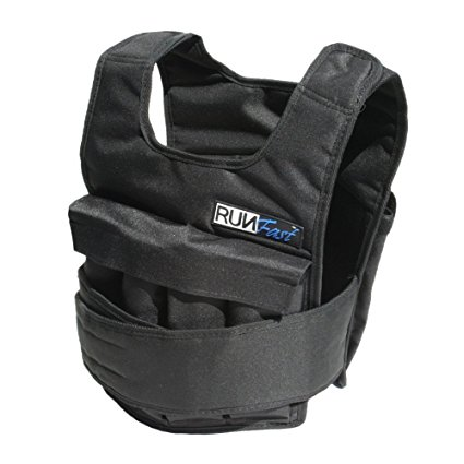 3. RUNFast/Max 12lbs-140lbs Adjustable Weighted Vest