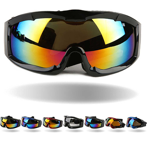 9. Tactical windproof cycling goggles UV 400 motorcycle ski snowboard goggles