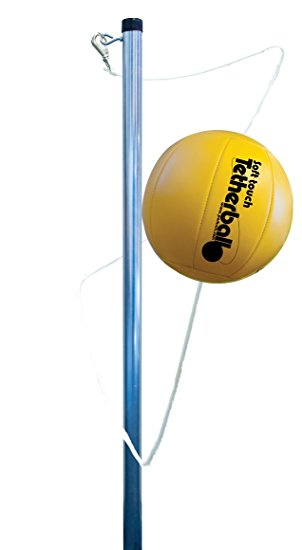 6. Park and sun sports portable outdoor tetherball set with accessories (2-piece pole)