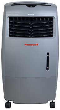 9. Honeywell CO25AE 52 Pt. Indoor/Outdoor Portable Evaporative Air Cooler with Remote Control - Grey