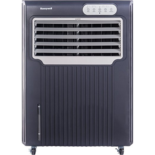 7. Honeywell CO70PE 148 Point Indoor/Outdoor Evaporative Air Cooler, Grey/White