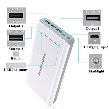 4. Generic 50000mAh Portable 3USB External Battery USB Power Bank
