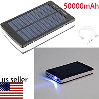3. Unbrand 50000mAh Dual USB Portable Solar Battery Charger Power Bank