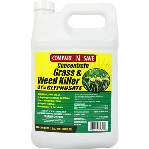1. Compare-N-save concentrate grass and weed killer.