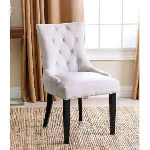 Linen Upholstered Dining Chair