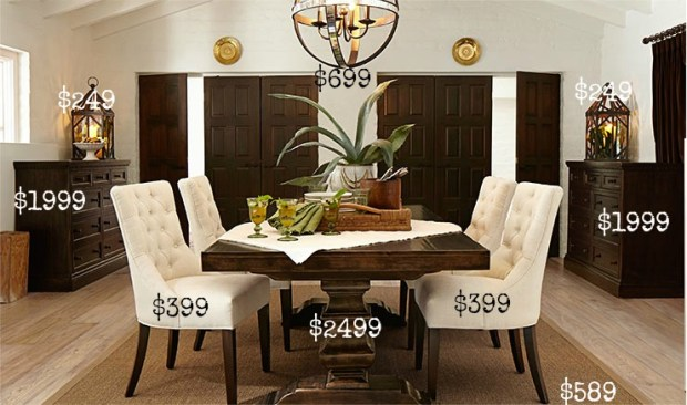 Pottery Barn Dining Room on a Budget- Love it for less