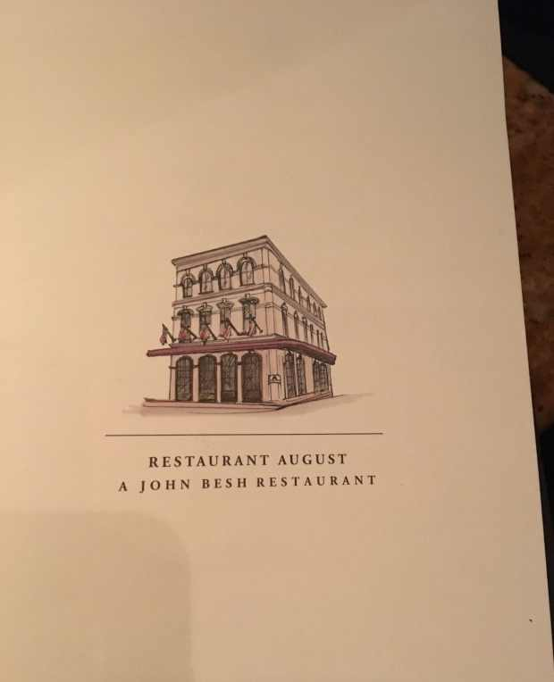 Restaurant August in New Orleans
