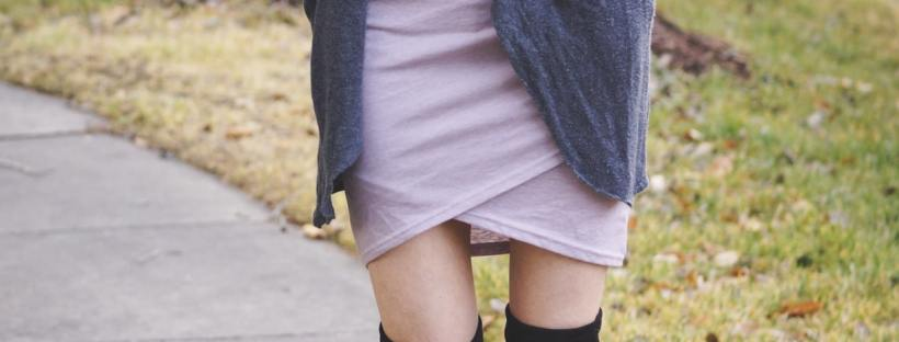 Favorite Ruched Dress + Cardigan Sweater