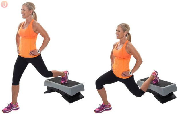 Elevated Rear Leg Lunges