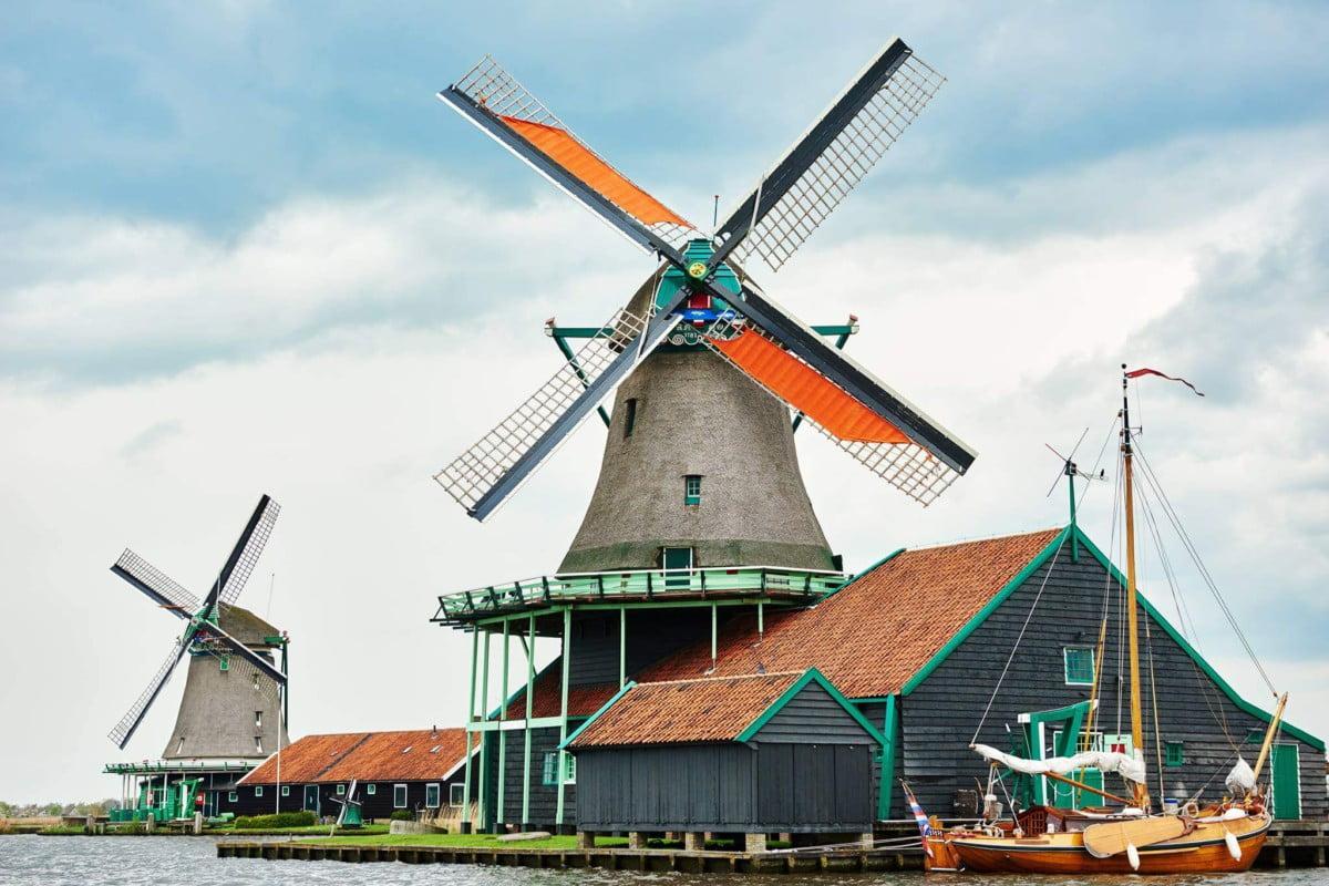 Zaanse Schans na Holanda : a vila dos moinhos e tamancos