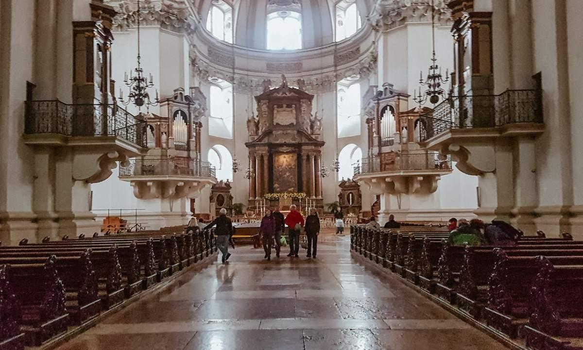 Detalhes internos - Catedral de Salzburg