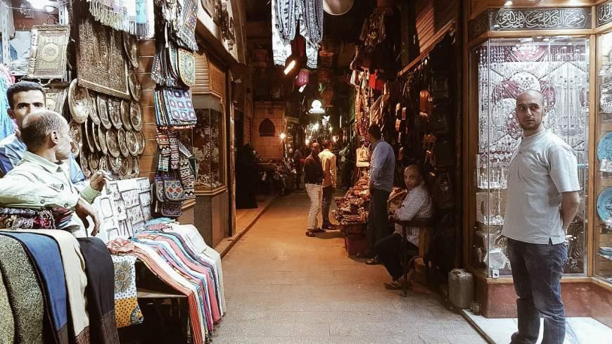 Pontos turísticos do Egito - Mercado do Cairo