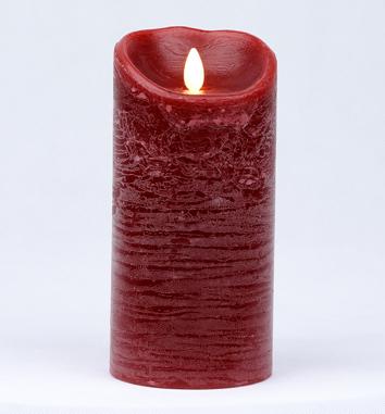 【Luminara 盧米娜拉 擬真火焰 蠟燭】 耶誕紅肉桂香氛水紋蠟燭禮盒(大)/66004 +加贈充電電池組