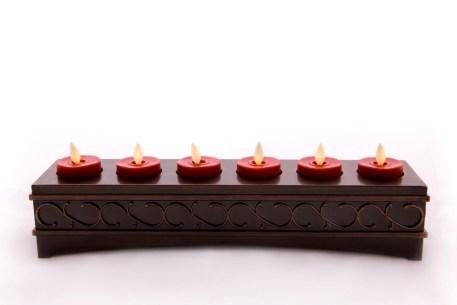 【Luminara 盧米娜拉 擬真火焰 蠟燭】六入式 耶誕紅 小茶杯款