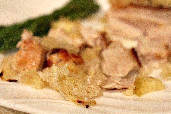 Oven Baked Pork Chops and Sauerkraut