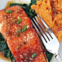Honey Garlic Sockeye Salmon