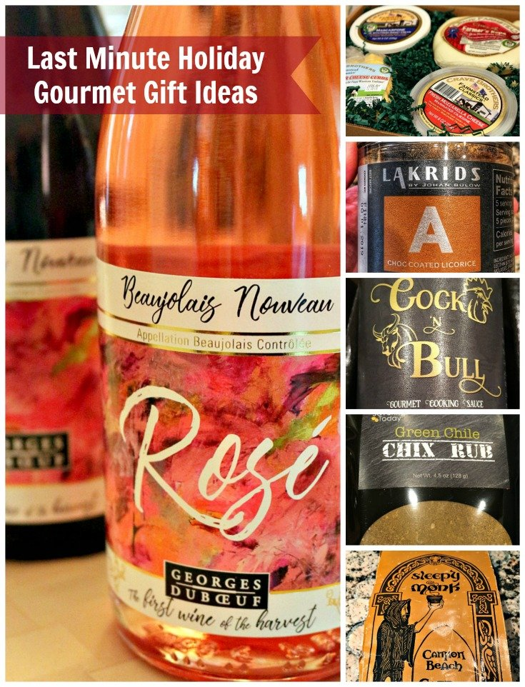 Last Minute Holiday Gourmet Gift Ideas | Eight unique holiday gourmet gift ideas for food, wine, and cocktails to make this season festive and delicious.