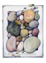 Ocean Tumbled Stones Notecard