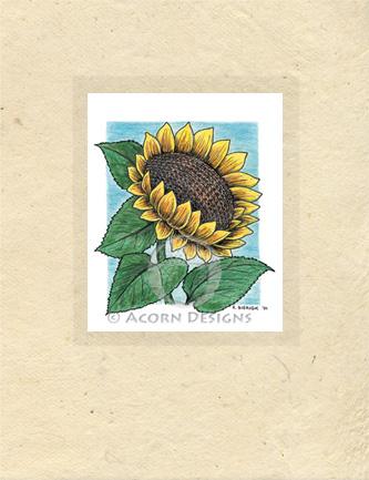 Sunflower Lokta Card