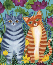 Two Cats Lokta Card
