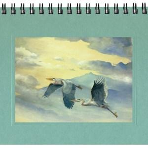 Flying Great Blue Herons Journal