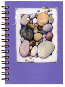 Cover image - Ocean Tumbled Stones Mini Journal